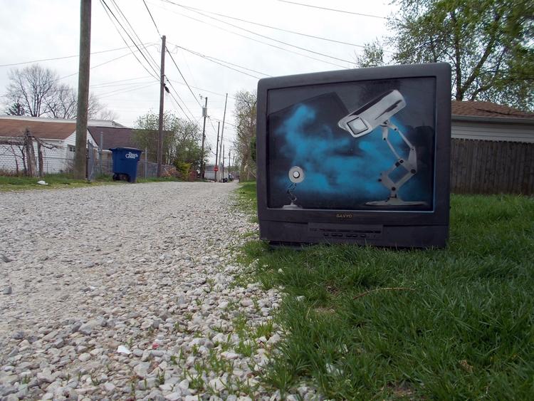 Luxo Jr Big Brother Street Art  - csstanley   ello