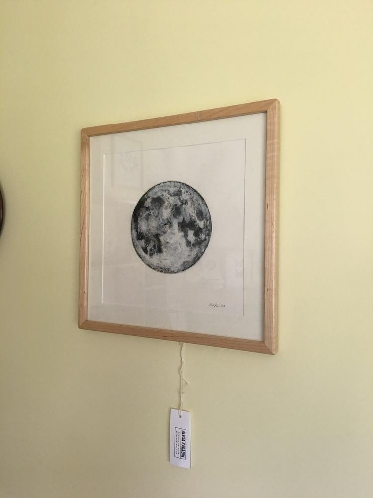 painting home - sold, moon, luna - alexakarabin | ello