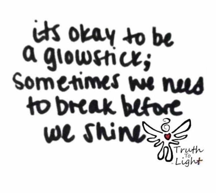 glowstick; break shine :blue_he - truth_to_light | ello