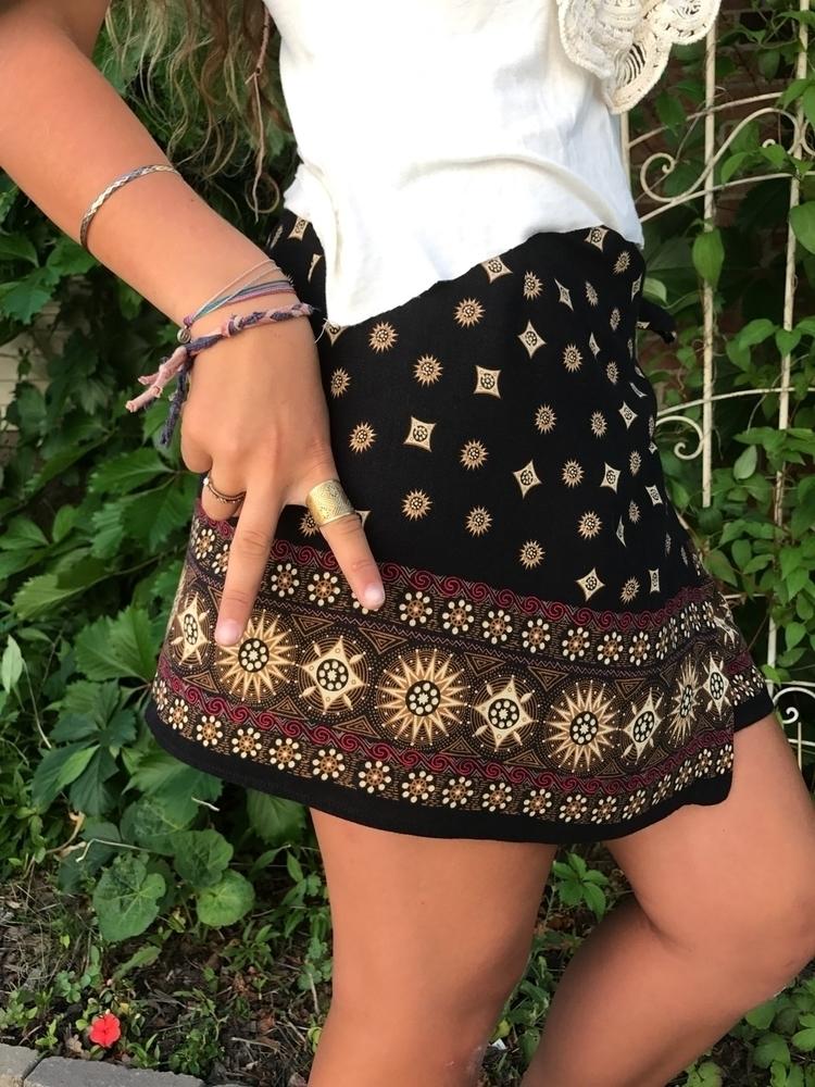 Upcycled vintage rayon skirt, s - zasra   ello