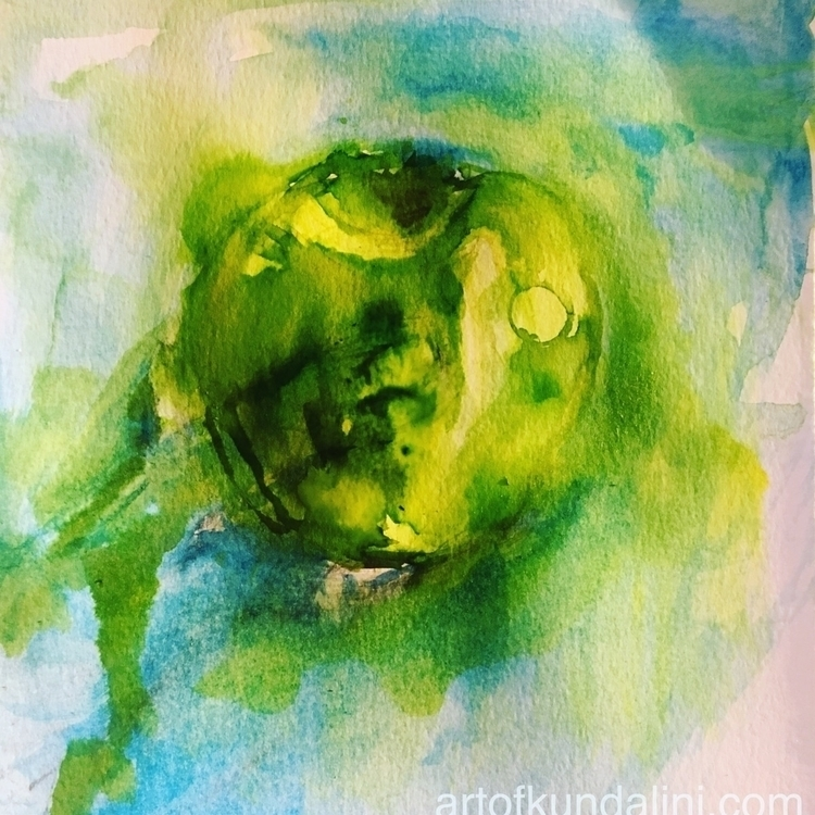 Green apple - art, heart, hope, green - arnabaartz | ello