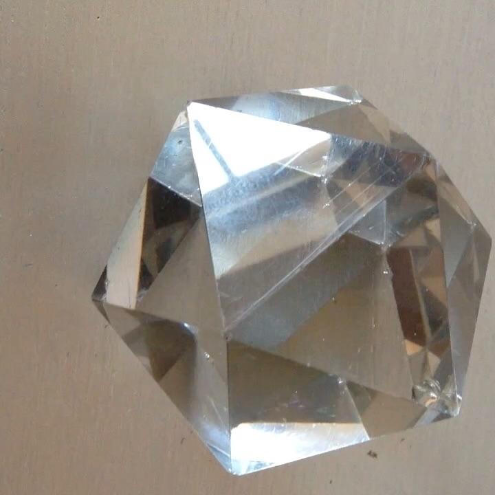 glass icosahedron charity shop - lumicube | ello