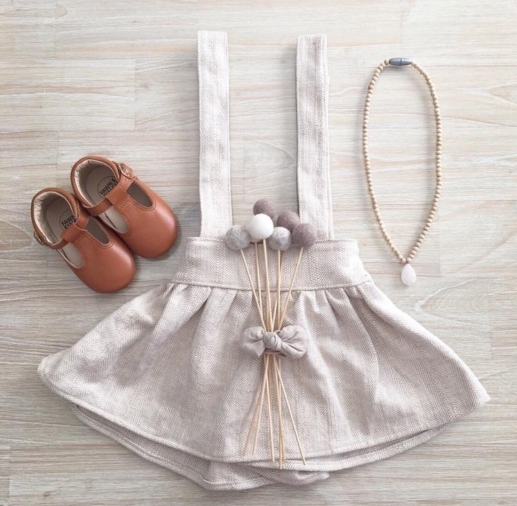 Oak herringbone linen suspender - rubyowl_babywear | ello