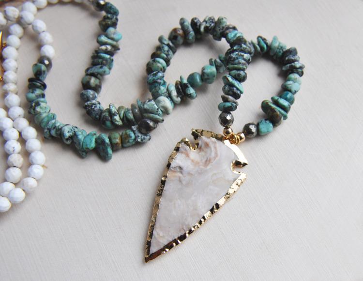 jasper, turquoise, howlite, pyrite - fawinginlove | ello