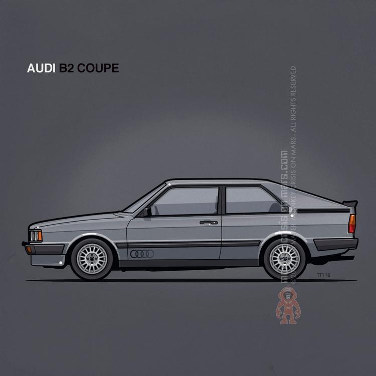 Audi B2 Coupe (1984) :copyright - monkeycrisisonmars | ello
