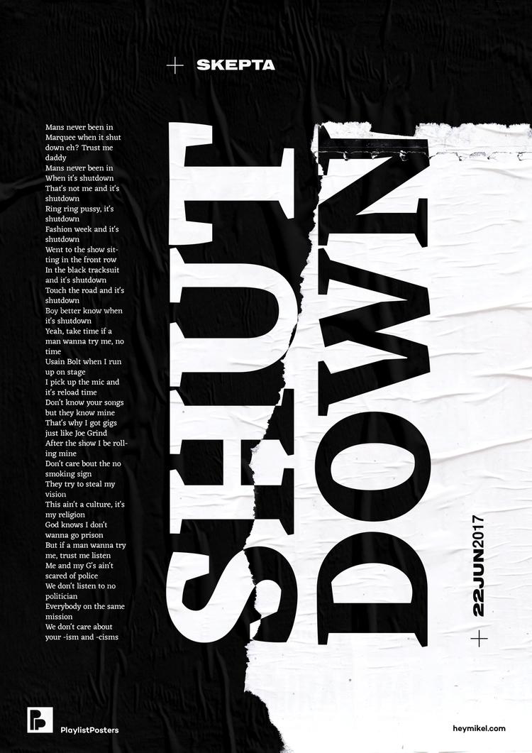 Playlist-posters // Skepta - Sh - heymikel | ello