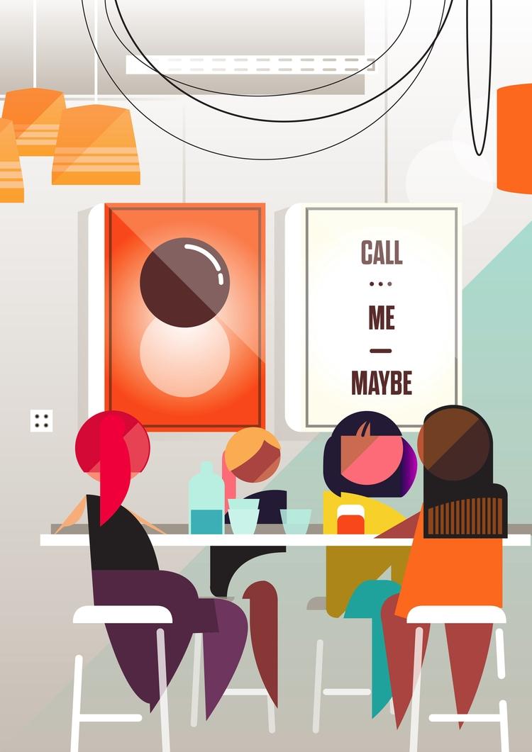 Check full project portfolio - cafe - bentheillustrator | ello