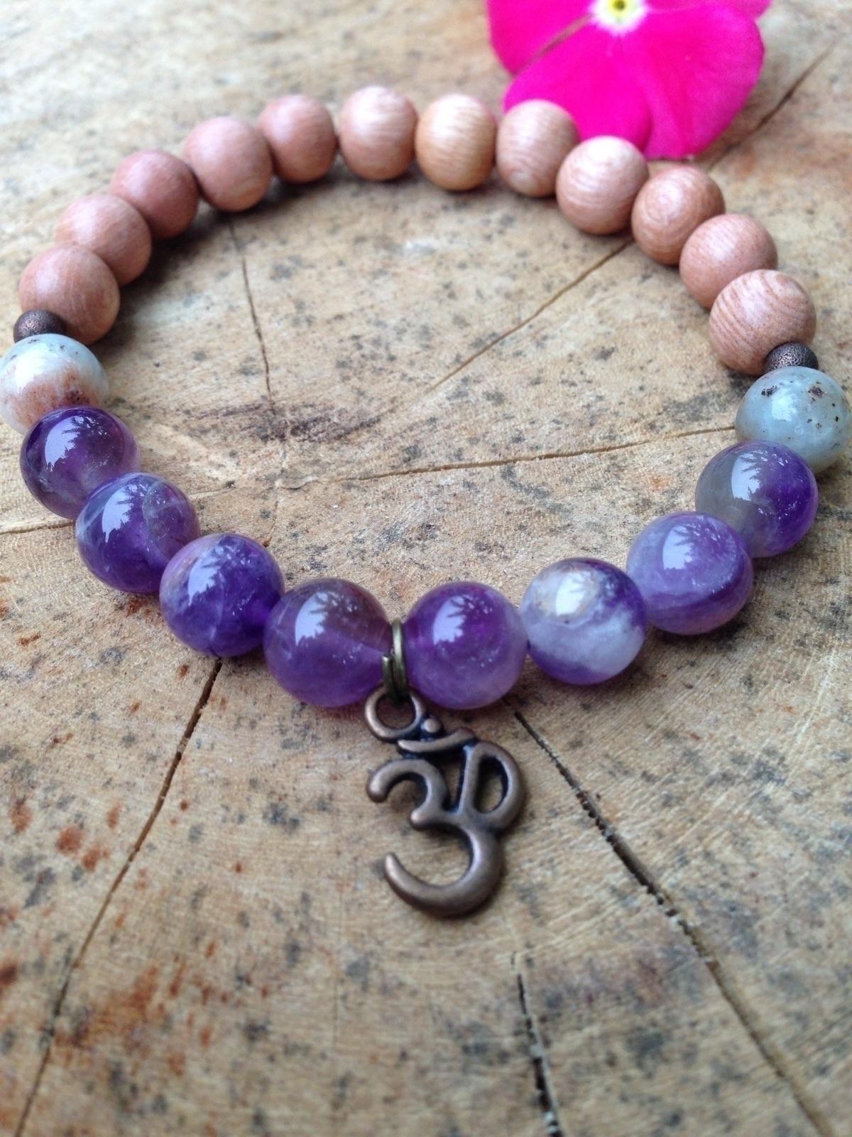 Om wrist mala bracelet:om::pray - bohoelementsdesigns | ello