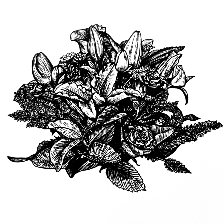 Bloom Instagram - ink, sketch, linework - inklining | ello
