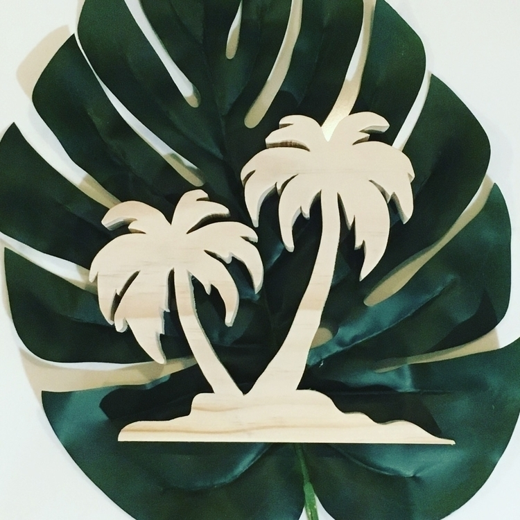Dreaming summer days - palmtree - woodenitbefun | ello
