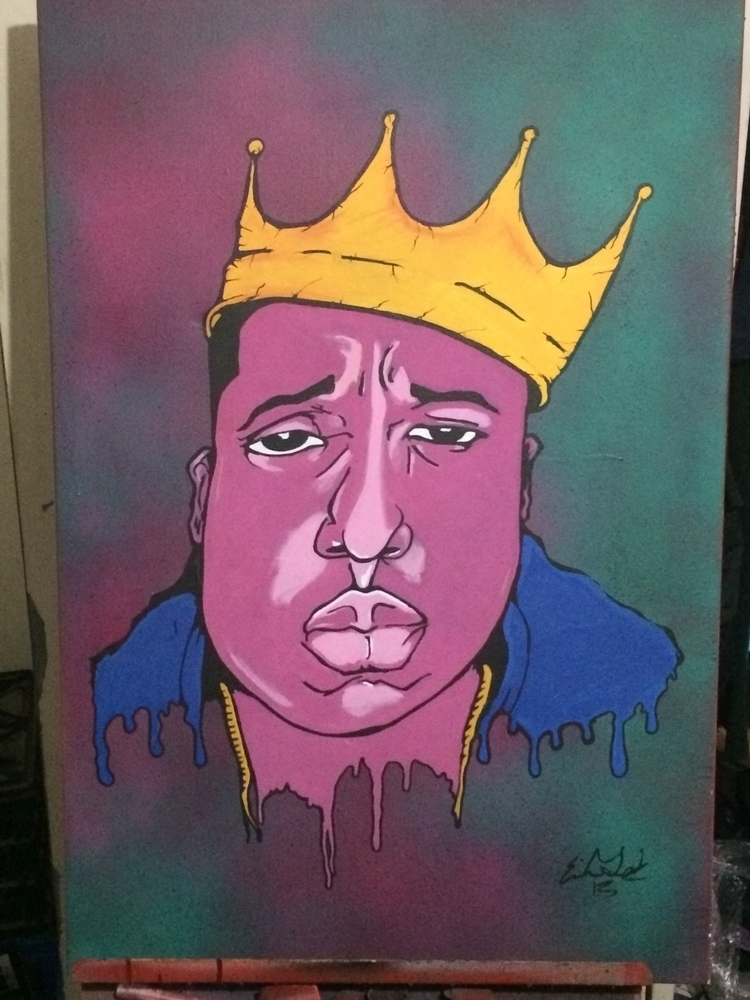 biggie painting - child_of_eighties | ello