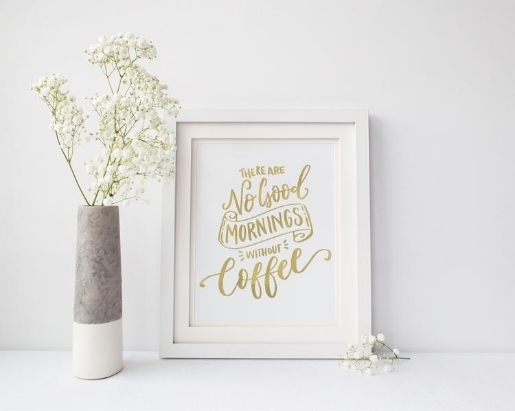 good mornings coffee - caffeine - prints279 | ello