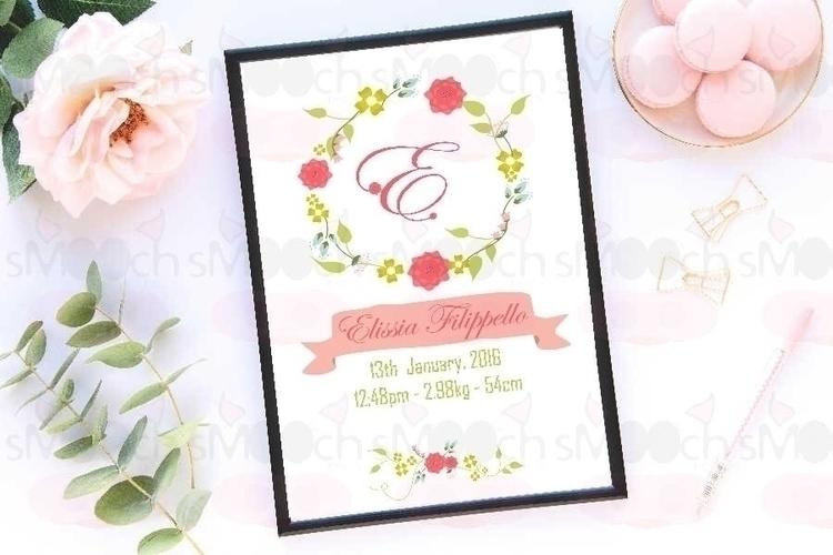 Custom Delicate Floral Wreath A - smoochdesignau | ello