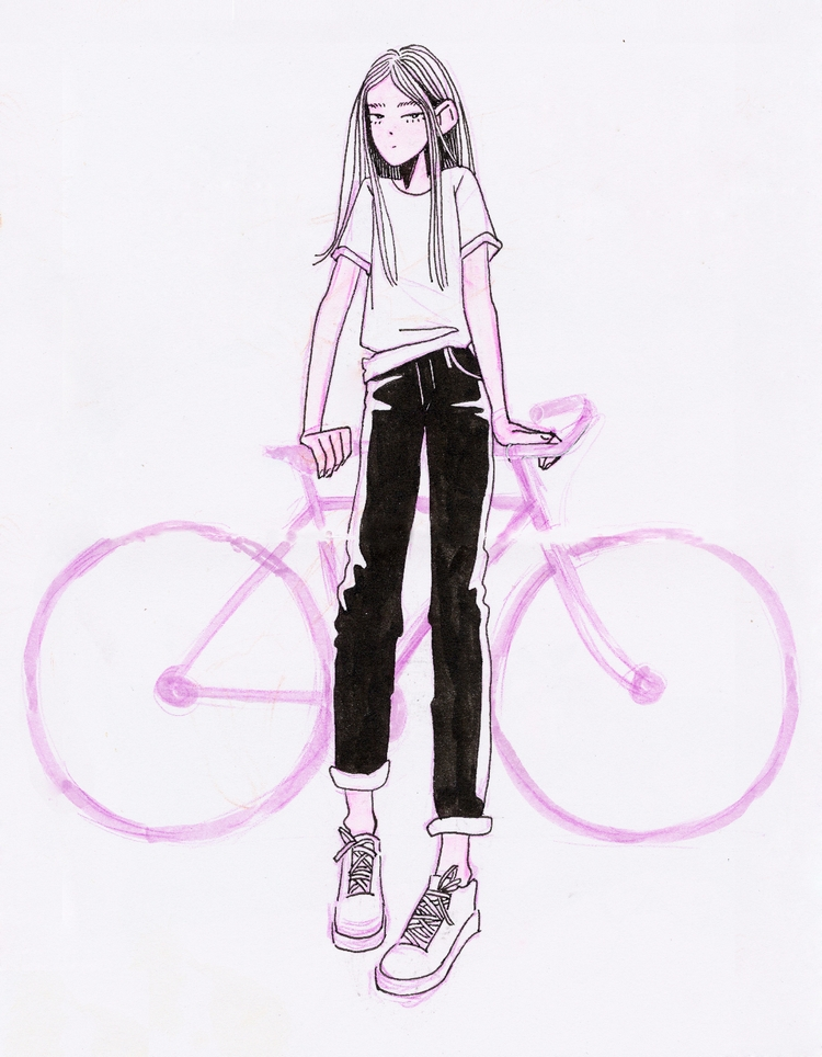 illustration, art, bike - hot_tofu | ello