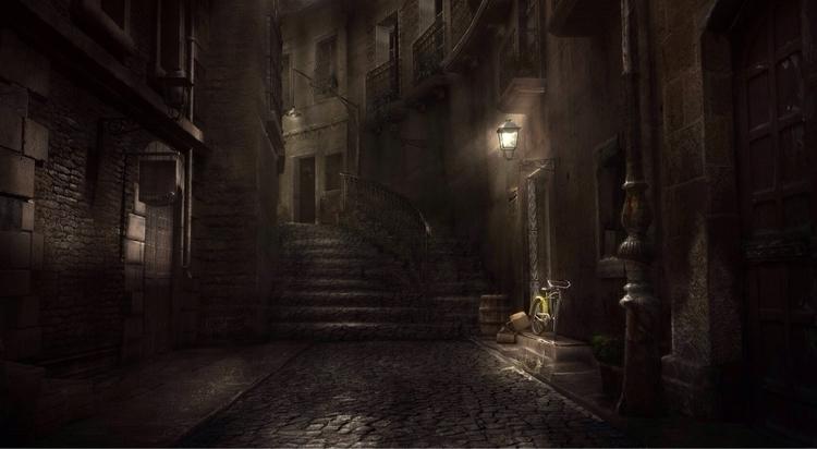 . silently making escape dark,  - suwithnoe   ello