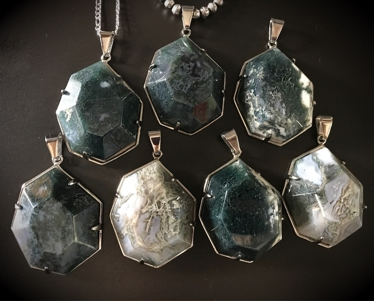 Moss Agate Veda Necklaces left - evil_pawn_jewelry | ello