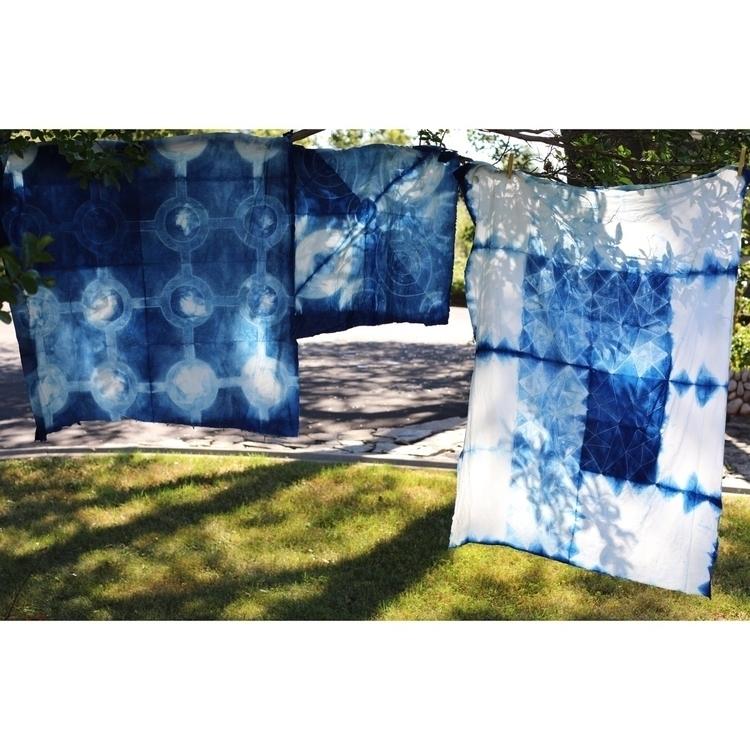 Indigo Stitch Shibori Day - dyeallthethings - entropyalwayswins | ello