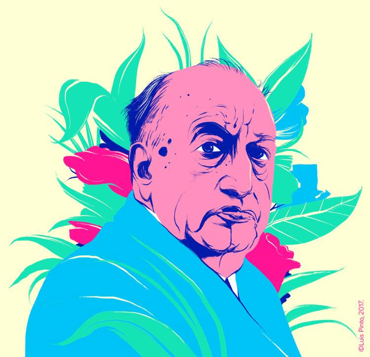 Portrait Miguel Ángel Asturias  - luispintos | ello