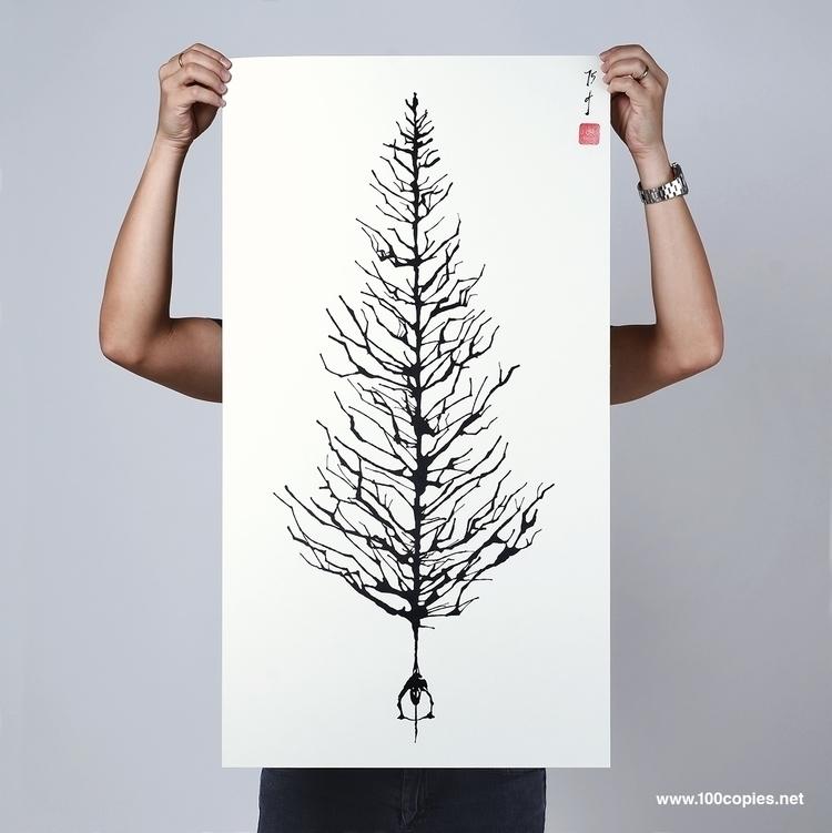 Design 36 - Tree Joy pedal tick - 100copies_bicycle_art | ello