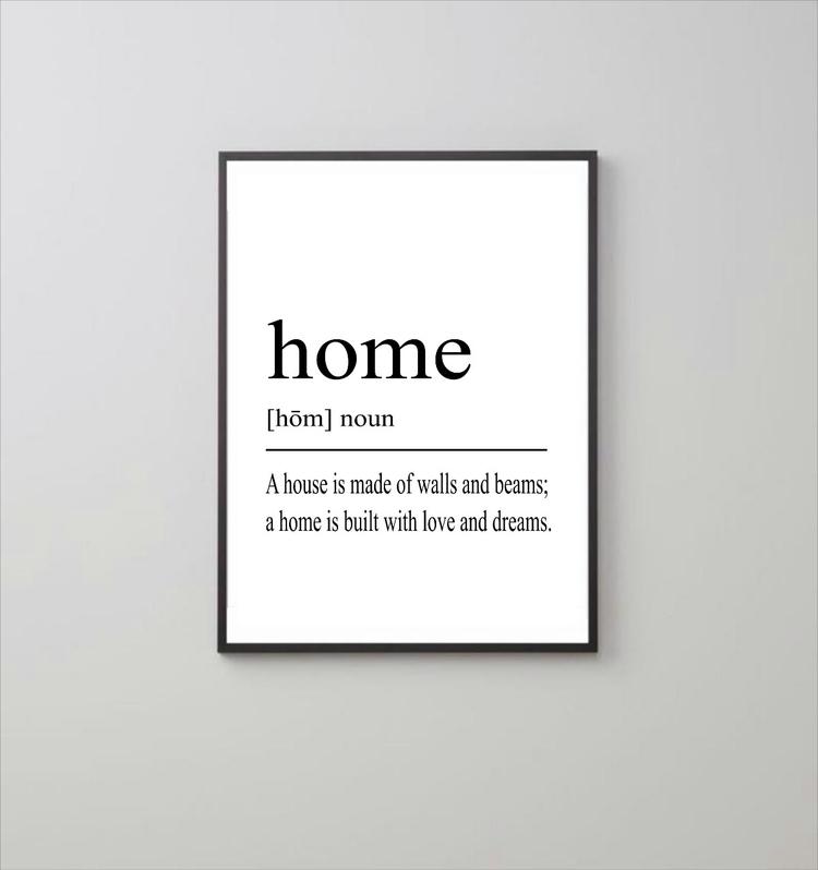 HOME print! Simple stunning dec - goldenrabbitnz | ello