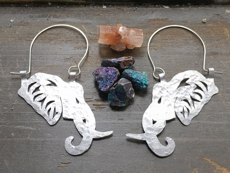 metal shop - hammered, elephant - asotojewelry | ello