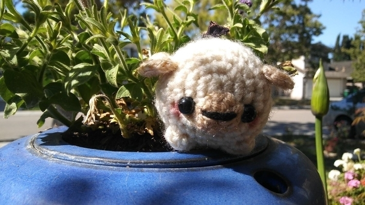 chubby baby white puggle :two_h - yarncircus   ello