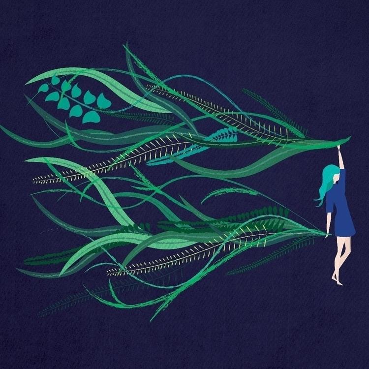 jungle loving girl - illustration - commonwild | ello