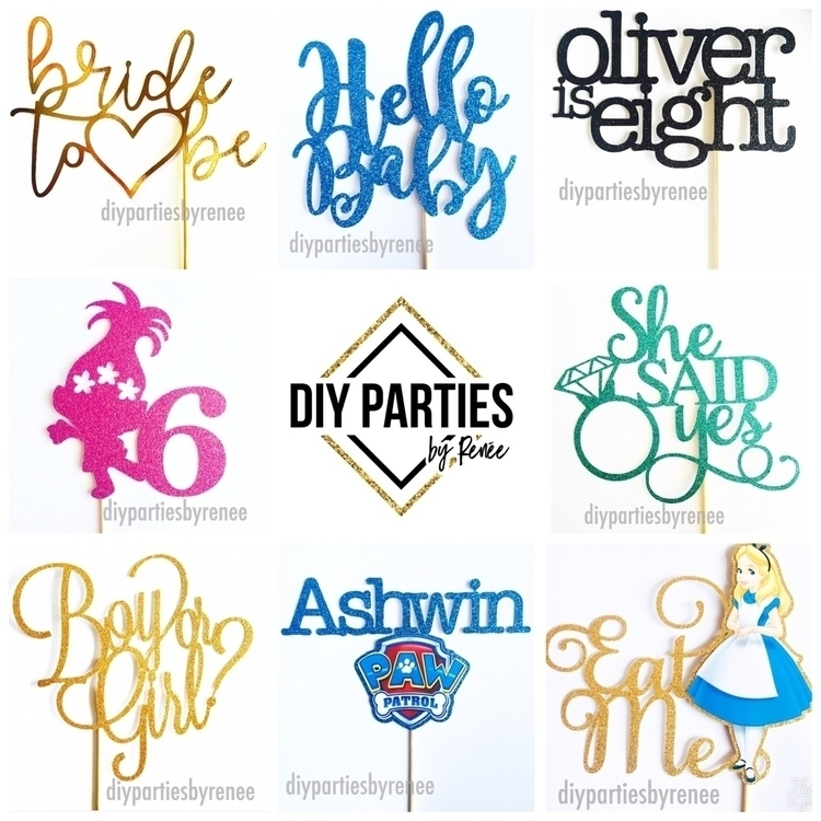 Cake toppers occasion, order - caketopper - diyparties | ello