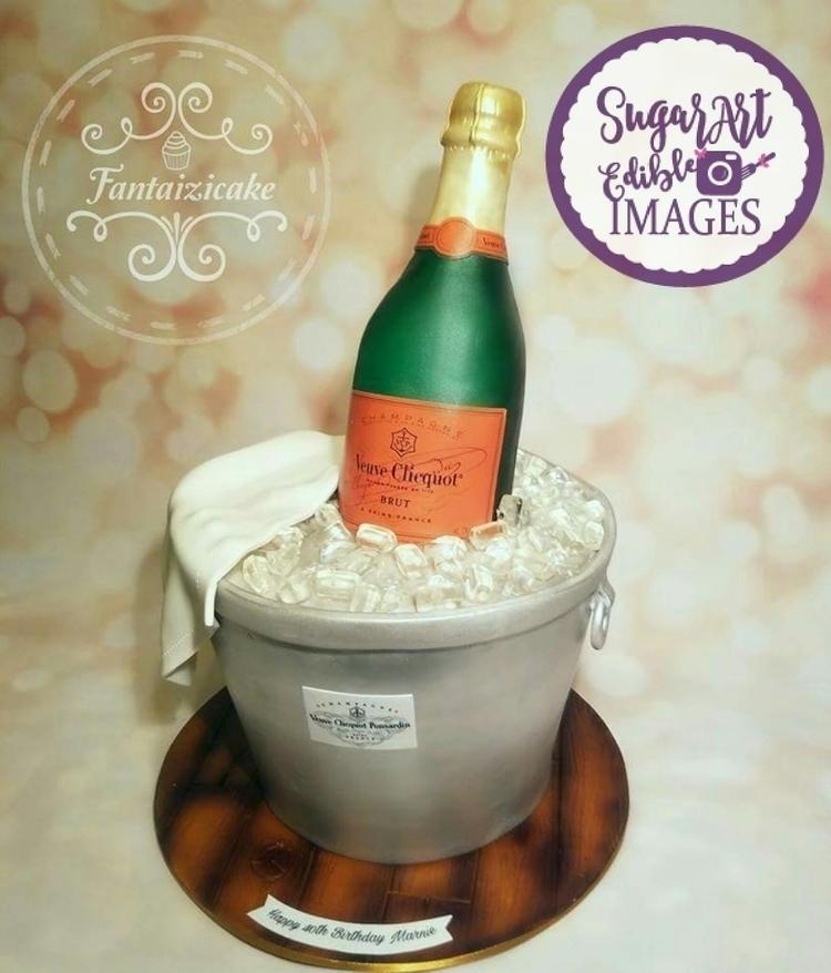 Champagne Cake - edibleart, sugarartedibleimages - sugarart_edibleimages | ello