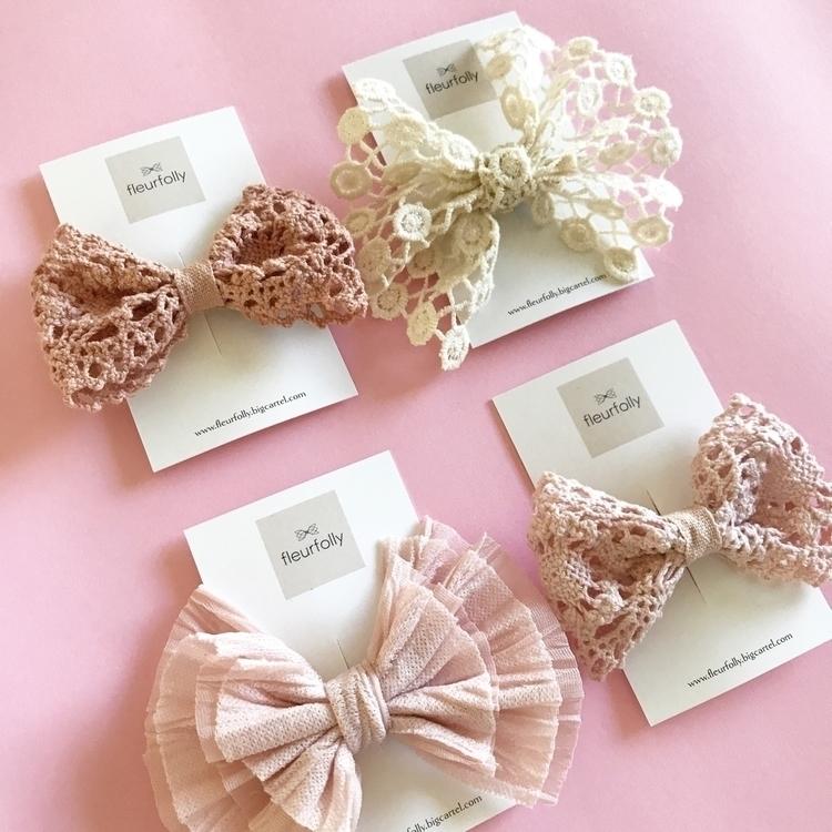 range Handmade bows, hair clip  - fleurfolly | ello