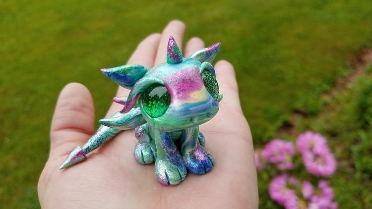 SOLD Titanium Aura baby dragon  - mysunkissedstudio | ello