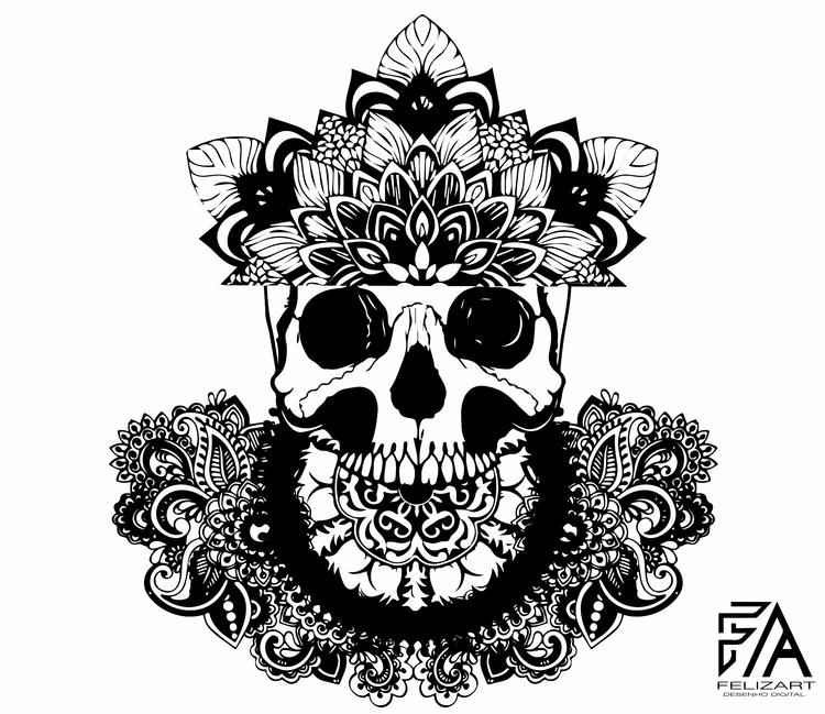 minimalist, skull, felizart, artwork - felizart | ello