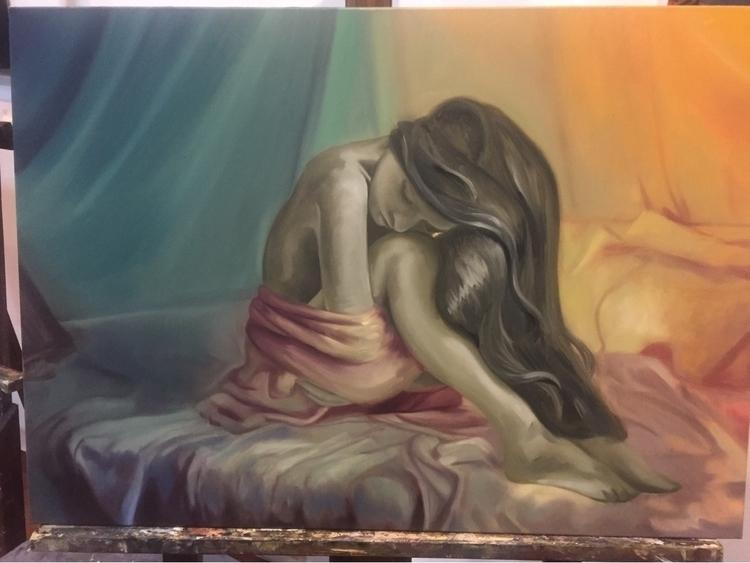 workinprogress#oilpainting#art#magicrealism#:heart:️ - milena_arietano | ello