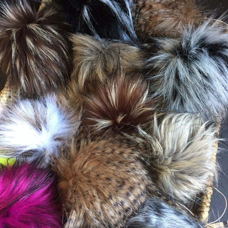 fabulous Faux Fur Poms knit cro - kitchenklutter | ello
