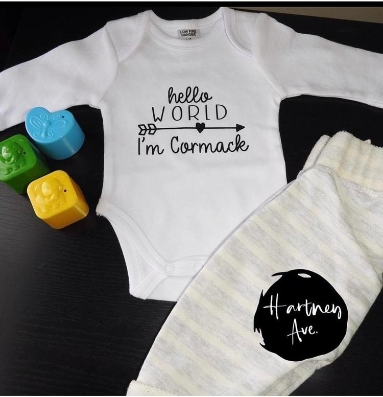 personalised onesie received ha - hartneyave | ello