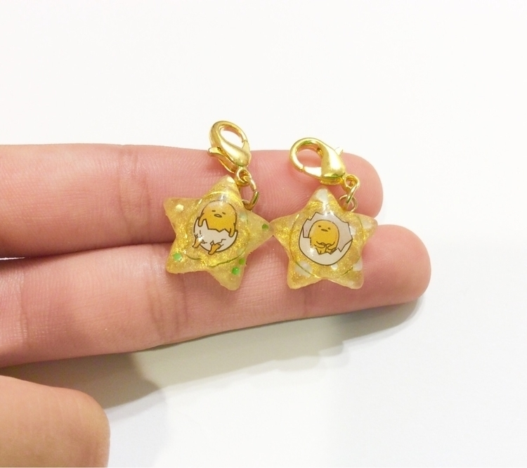 uv resin gudetama Stars! etsy!  - tinycharmscreations | ello