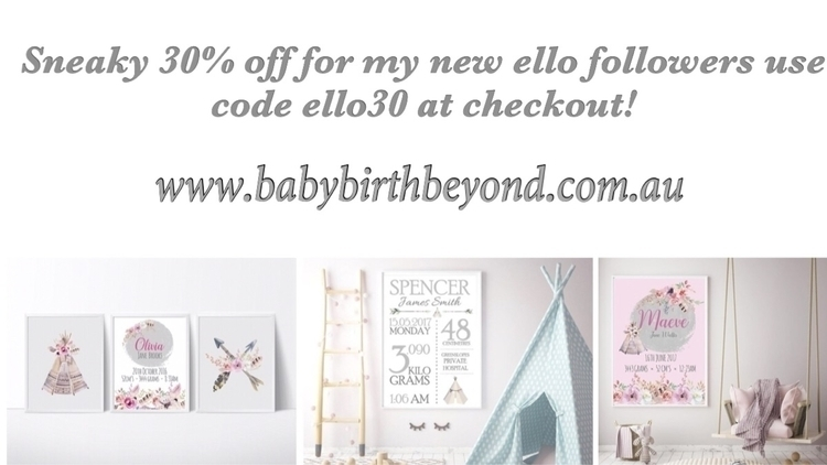 followers ello grab Sneaky 30%  - babybirthbeyond | ello
