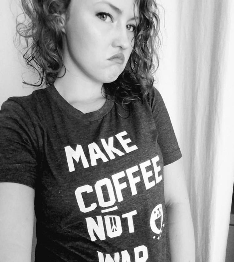Coffee. War - Peace, ComfyTees - fiercelittlestar   ello