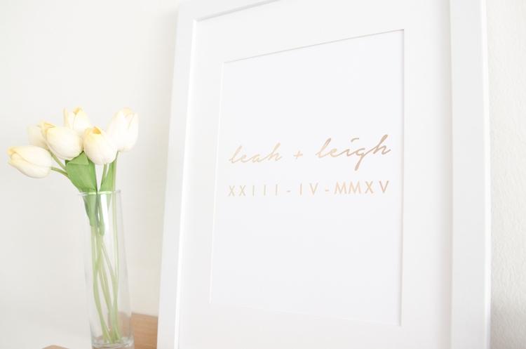 personalised roman numerals dat - blossomandpear | ello