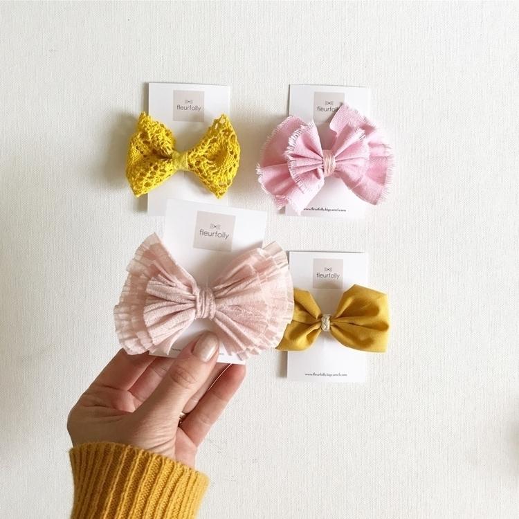 Mustard pink bow combination - fleurfolly | ello