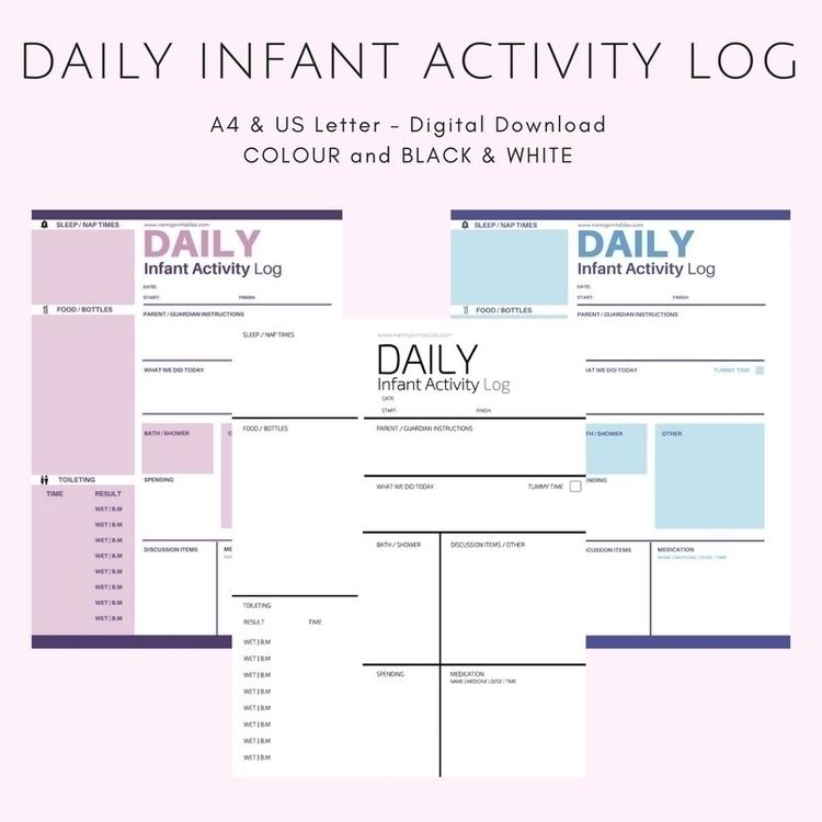 popular printables Daily Log de - nanny_printables | ello