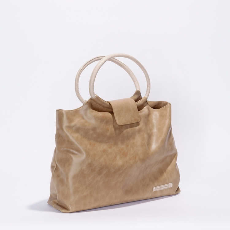 Vienna Bag - Toffee/Almond - leather - harlequinbelle | ello