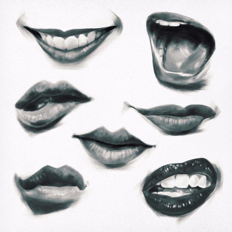 lips - sketchbook, sketch, illustration - mrbraintree | ello
