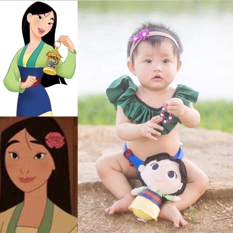Mulan inspire swim suit flower  - shineandyayacutielo | ello