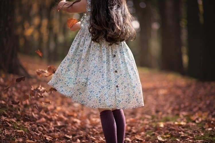 Dancing autumn leaves  - magicofchildhood - milan_and_ella | ello