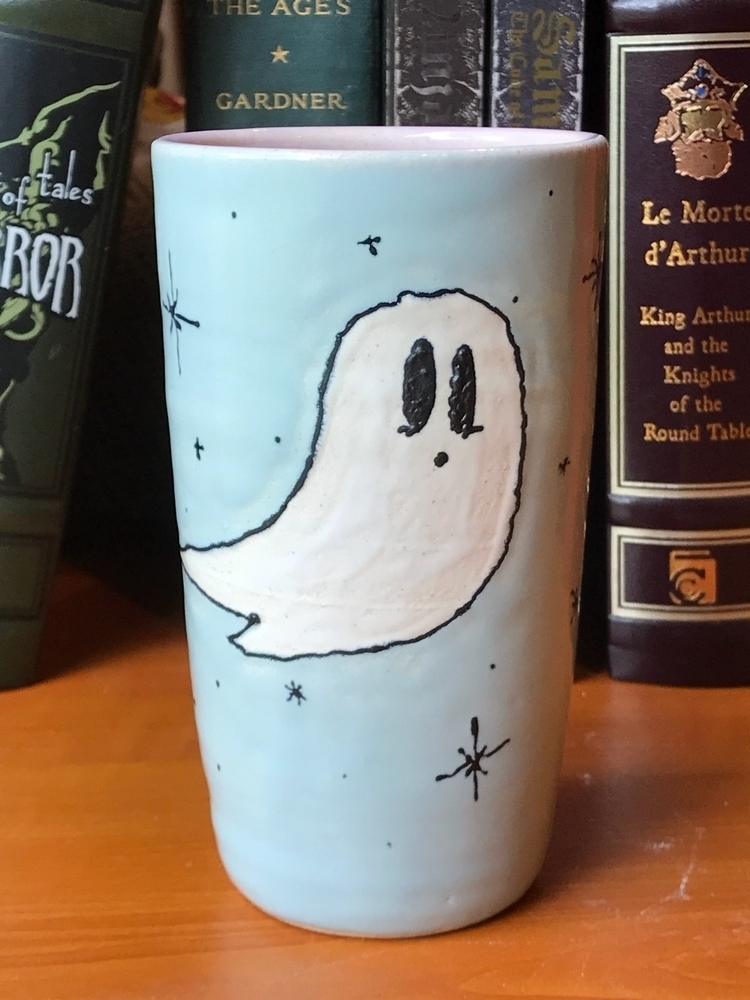 Ghostie tumbler - ceramics, pottery - mcpspots | ello