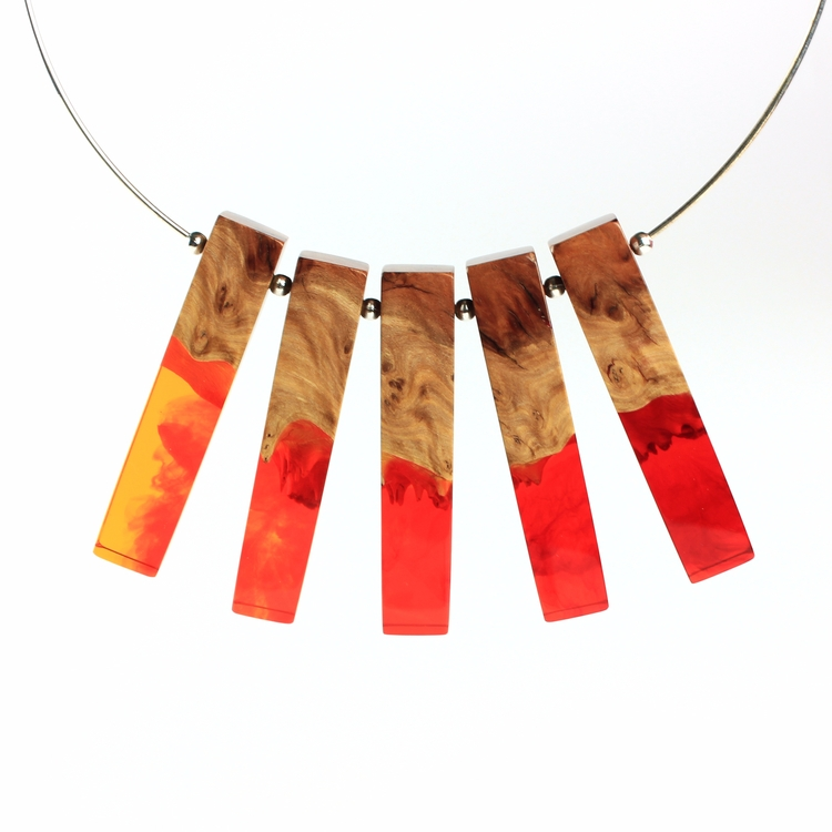 fiery choker Statement necklace - woodallgood | ello