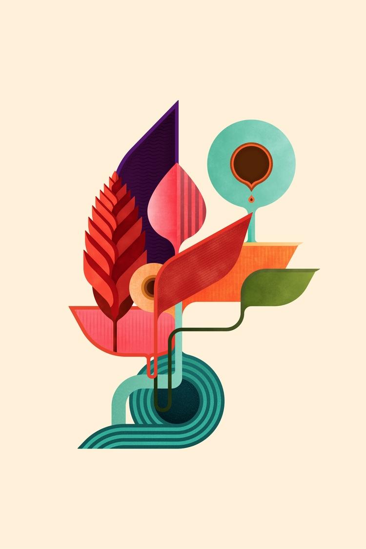 Life Digital Illustration, 2017 - fabioissao   ello