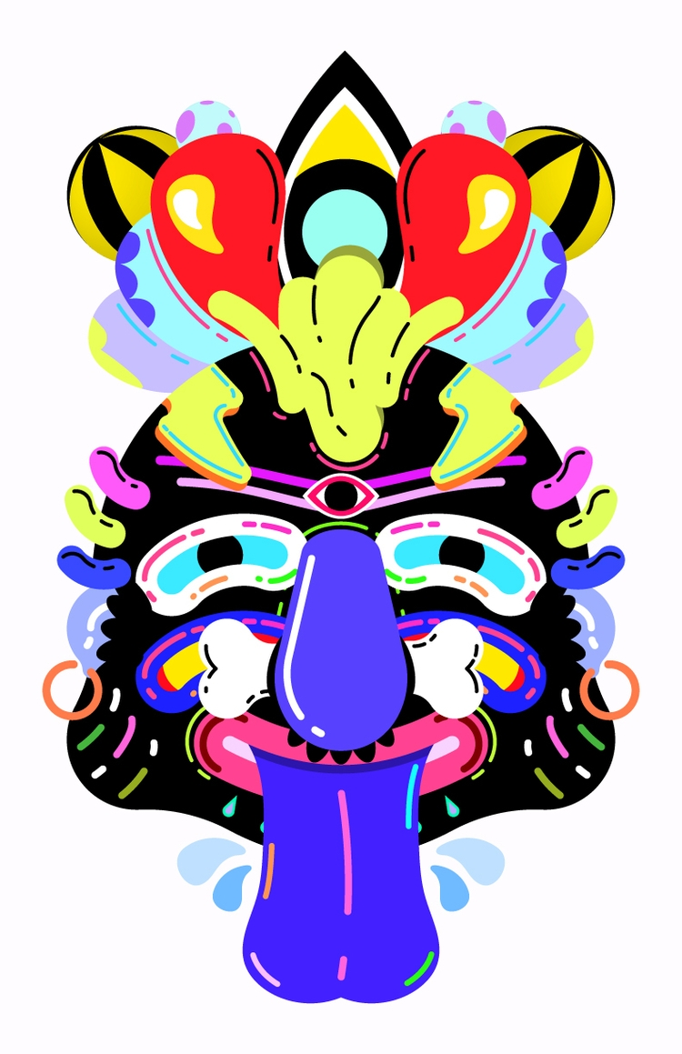 Good Voodoo - illustration, trippy - natekogan | ello