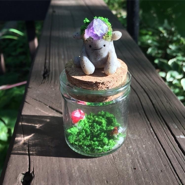 Small amethyst garden guardian  - afearsomeartisan | ello